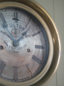 Clock at Tiburon Railroad & Ferry Depot Museum