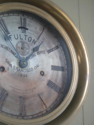 Clock at Tiburon Railroad & Ferry Depot Museum