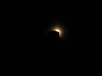 Water Tower in silhouette, New York, NY