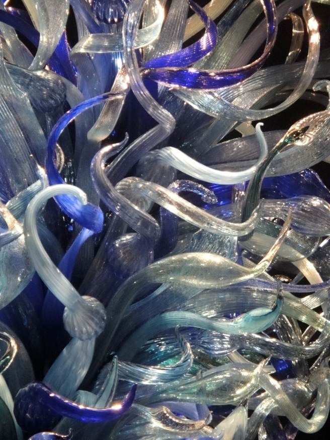 Blue sculpture in Sea Life room, Chihuly Glass Sculpture (c) Winter Shanck, 2012