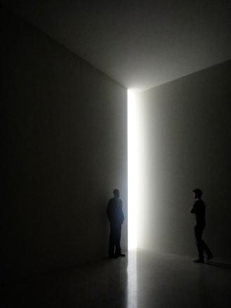 Corner light, James Turrell exhibit at the Guggenhem, New York