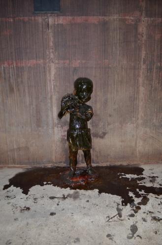 Sugar sculpture on wall (c) Winter Shanck, 2014
