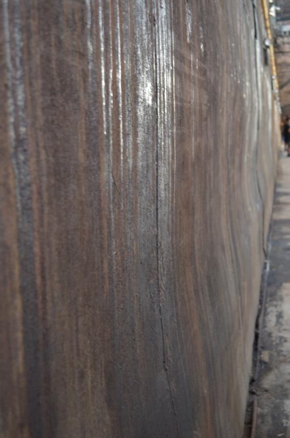Rusty wall at Old Domino Sugar Factory in Williamsburg, Brooklyn (c) Winter Shanck, 2014