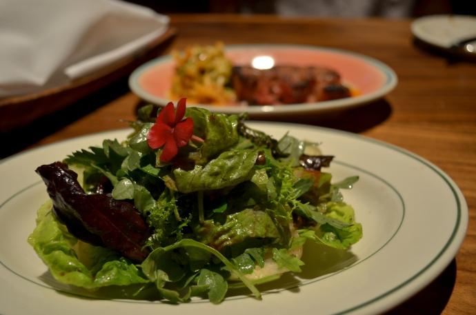 Market Salad of Greens and Herbs, Zinfandel Vinagrette (c) Winter Shanck