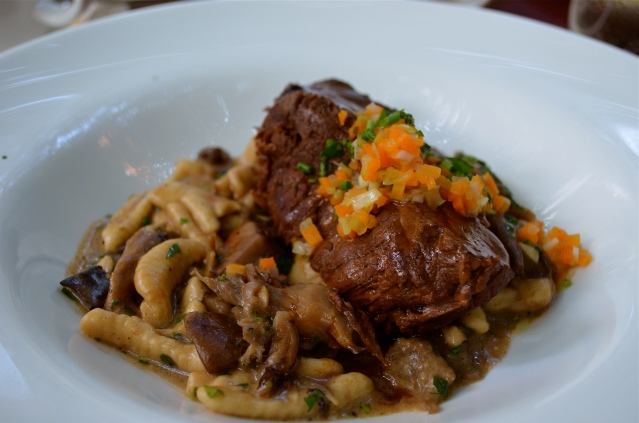 Short Rib with handmade wild mushroom cavatelli and truffle mousse (c) Winter Shanck, 2014