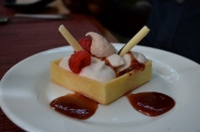 Strawberry & Cream Tart with passion fruit curd (c) Winter Shanck, 2014