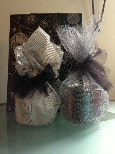 Tissue paper and wire wrap