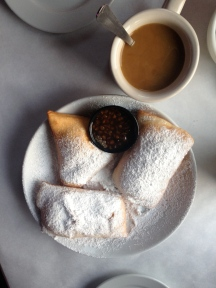 Beignets and Coffee, Huey's Restaurant on the Riverwalk, Savannah, GA