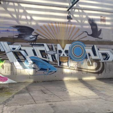 Richmond street art sign, Richmond River Walk (c) Winter Shanck, 2013