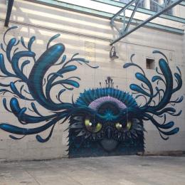 Bird street art, Richmond River Walk (c) Winter Shanck, 2013