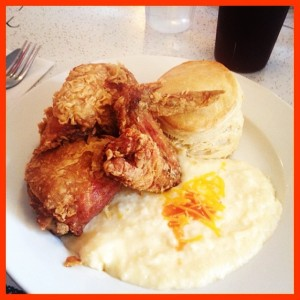 Chicken Box with Cheese Grits at Pies-N-Thighs (c) Winter Shanck