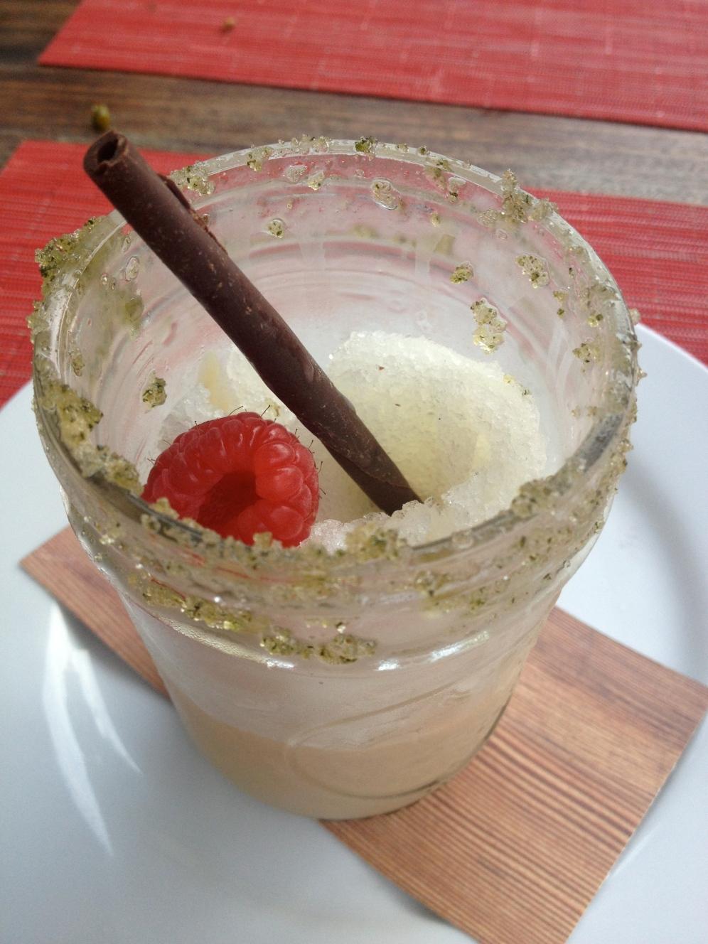 Frozen Arnold Palmer - sweet tea semifreddo and meyer lemon granita (c) Winter Shanck, 2013