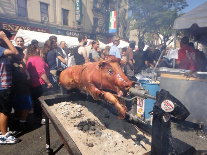 Roasting Pig, Ferragosto Festival, Bronx, NY (c) Winter Shanck, 2014