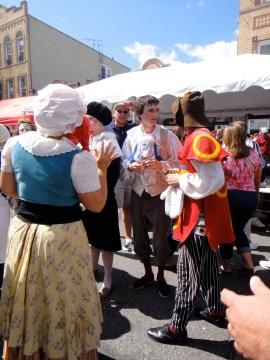 Commedia dell'Arte street performers, Ferragosto Festival, Bronx, NY (c) Winter Shanck, 2014