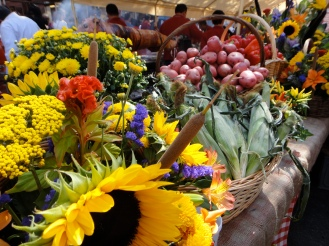 Flowers and Veggies, Ferragosto Festival, Bronx, NY (c) Winter Shanck, 2014