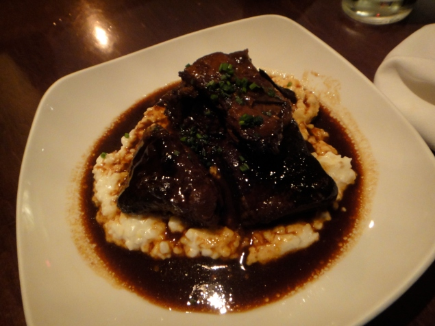 Braised Beef Short Ribs with Byrdmill Grits, Ginger and Hoisin Jus Mezzanine (c) Winter Shanck, 2013