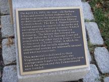 Plaque, Civil Rights Monument (c) Winter Shanck, 2013