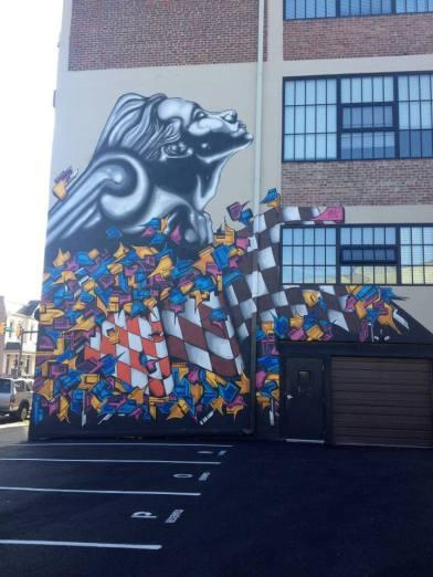 metal girl mural