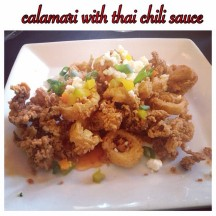 calamari with thai chili sauce