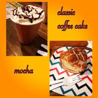 coffee cake and mocha