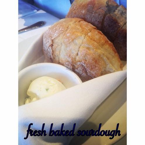 fresh baked sourdough