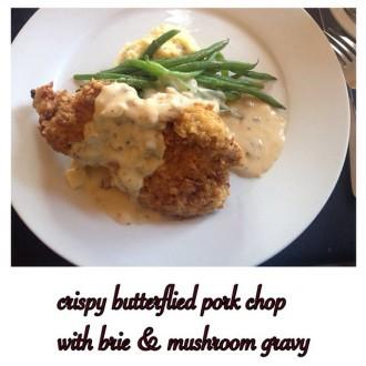 pork chop with brie gravy