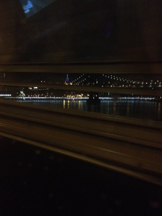 Manhattan Bridge with Empire State Building in background