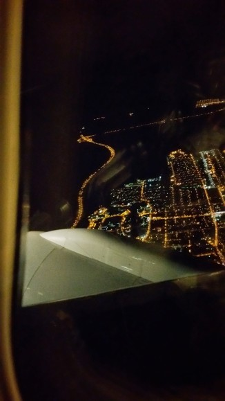 View from window leaving JFK