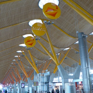 Madrid airport ceiling