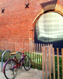 burgundy bike
