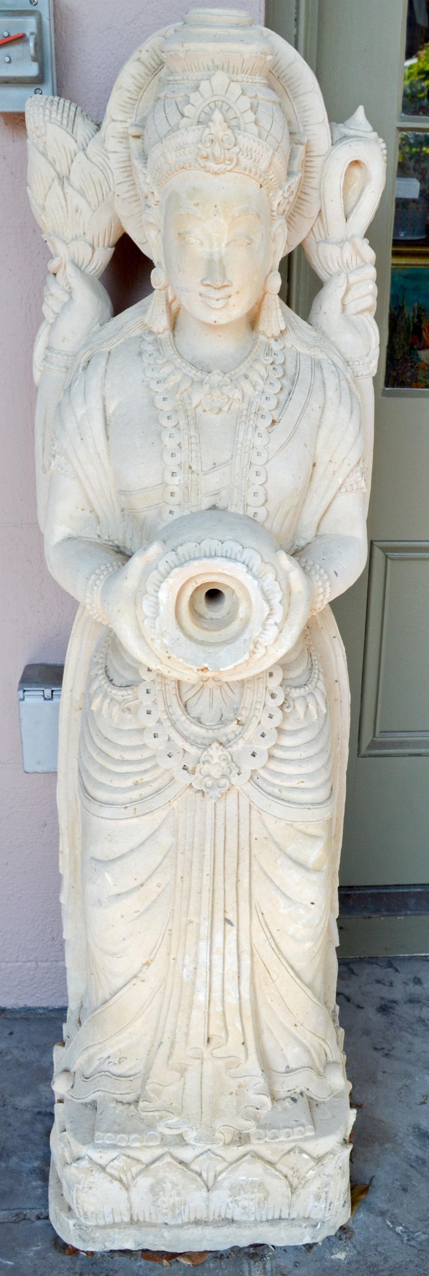 Standing Buddha Fountain statue