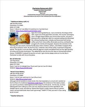 Charleston, SC Restaurant Guide